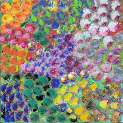 Bild Nr. 65, Format 40/40, Farbkomposition, Preis Fr. 250.00