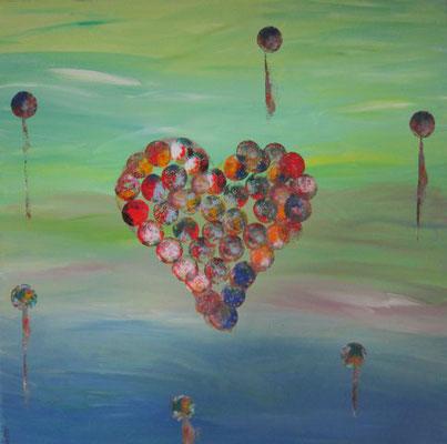 Bild Nr. 118, Format 60/60, Herzhafte Fröhlichkeit, Preis Fr. 520.00
