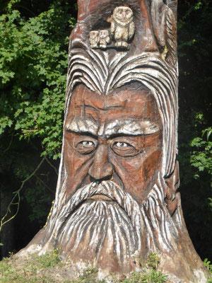 Tronc sculpte a Dannemarie (78)