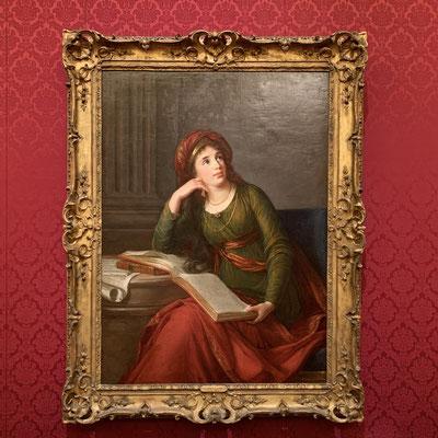 マリー・アントワネット専属の宮廷画家を務めた ヴィジェ=ルブラン「エカチェリーナ・フェオドロヴナ・ドルゴロウキー皇女」目線の先が右上の頂点に向かっていて、構図的にもすごく気持ちのいい作品です。