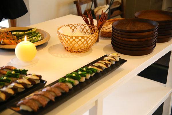 三谷さんの器で頂ける美味しいお料理