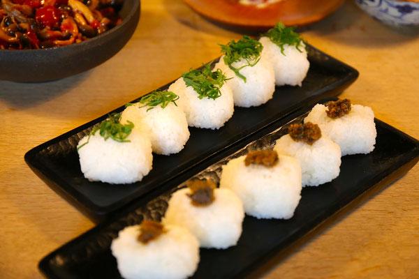 大葉・蕗味噌のおむすび