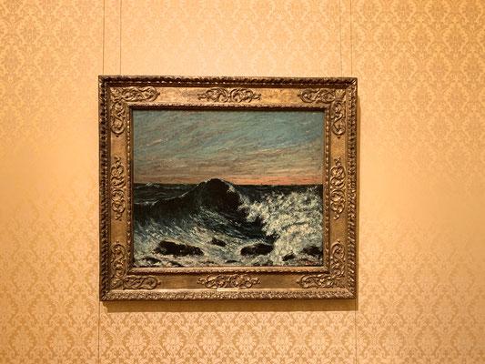 写実主義の画家 ギュスターヴ・クールベ「波、夕暮れにうねる海」葛飾北斎の影響も受けたとか