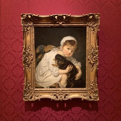 ジャン=バティスト・グルーズ「犬と遊ぶ子供」道徳画が描けなくなってからは子供の絵を描いたとか