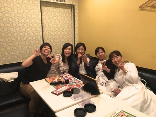 二次会は名古屋メンバーとカラオケ