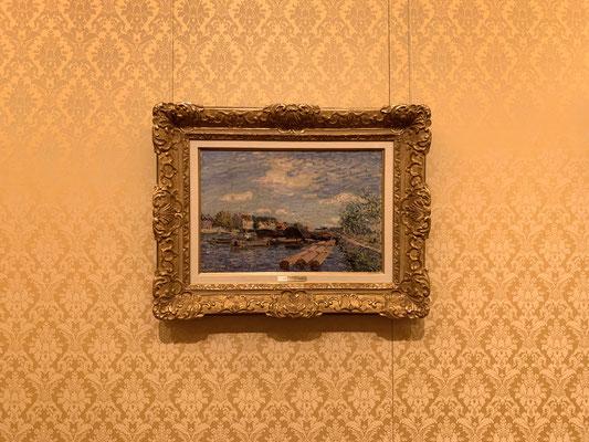 アルフレッド・シスレー「サン=マメのロワン運河」印象派の典型的な作品