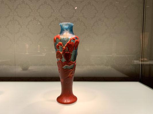 エミール・ガレ ホオズキ文化器 東洋趣味が反映された漆の様な朱の色や風合い