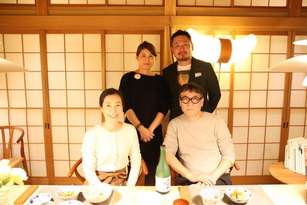 野田ご夫妻が来てくれて楽しい会食となりました