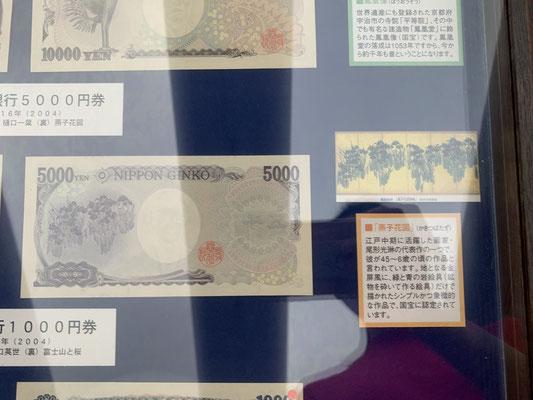 現五千円札の裏側 尾形光琳の燕子花図なんですね…知らなかった💦