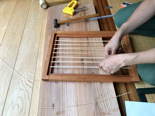 籐編みが始まりました