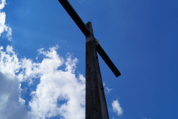 Gipfelkreuz am Wachtküppel in der Rhön