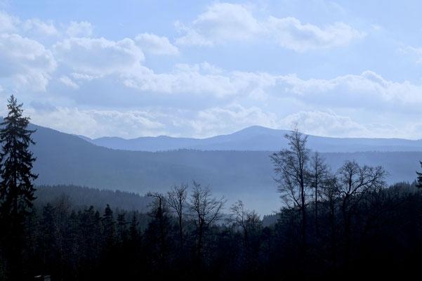 Blick vom Wachtküppel in der Rhön
