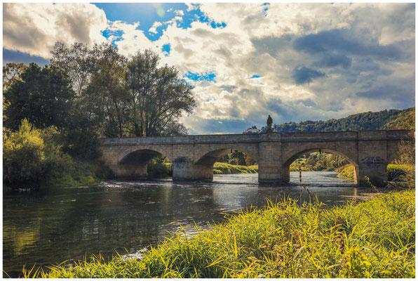"""Donaubrücke mit dem """"Heiligen Nepomuk"""" 8407"""