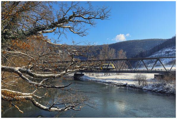 Eisenbahnbrücke über die Donau 5780