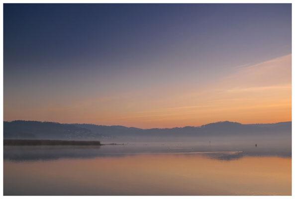 Überlinger See in der Morgendämmerung - im Hintergrund Ludwigshafen 3067