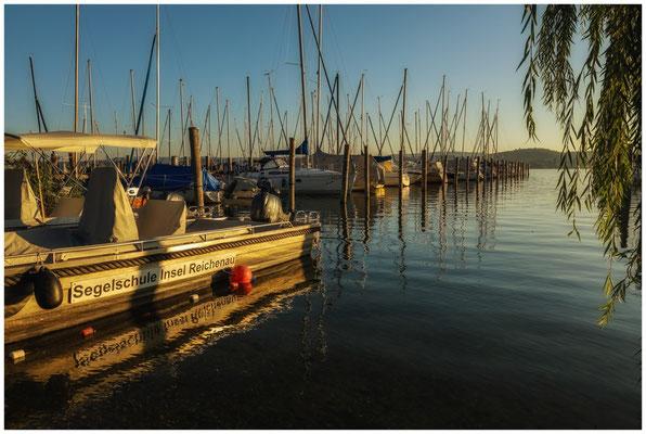 Morgenstimmung im Jachhafen der Insel Reichenau 0806