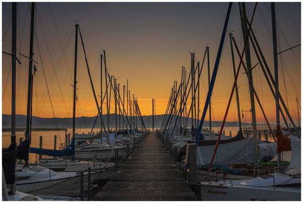 Morgendämmerung im Jachthafen von Bodman 3976