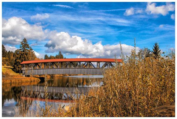 Holzbrücke bei Lechbruck