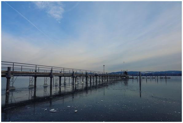Kalter Wintermorgen im Jachthafen von Iznang 6073