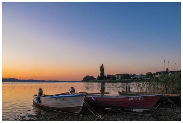 Fischerboote in der Morgendämmerung 9444