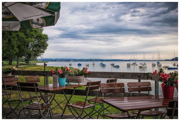 """Blick auf den Untersee vom """"Plätzle am See"""" in Gaienhofen 9312"""
