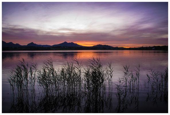 Nach Sonnenuntergang am Hopfensee