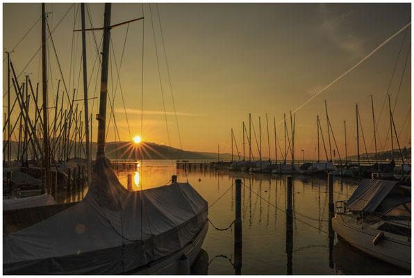 Sonnenaufgang Jachthafen Bodman 4024