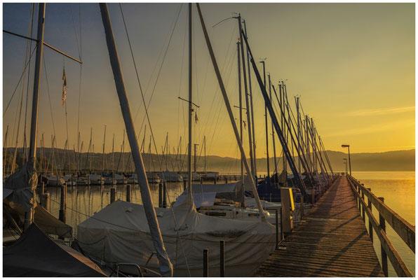 Sonnenaufgang Jachthafen Bodman 4044