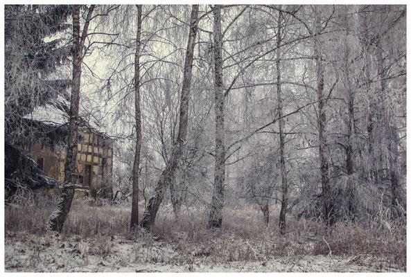 Winterlandschaft mit altem Bauernhaus bei Stockach 2419