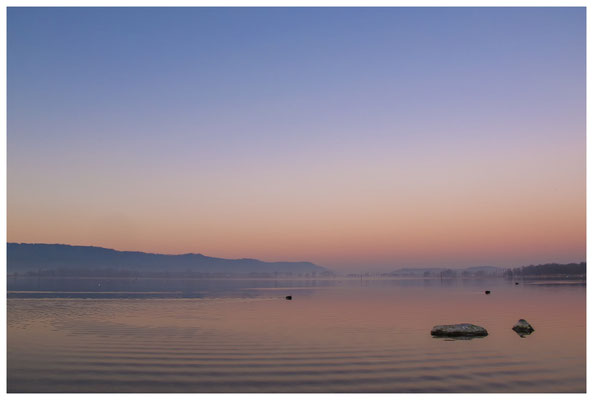 Morgendämmerung an der Radolfzeller Mole - mit Blick auf die Halbinsel Höri 2675