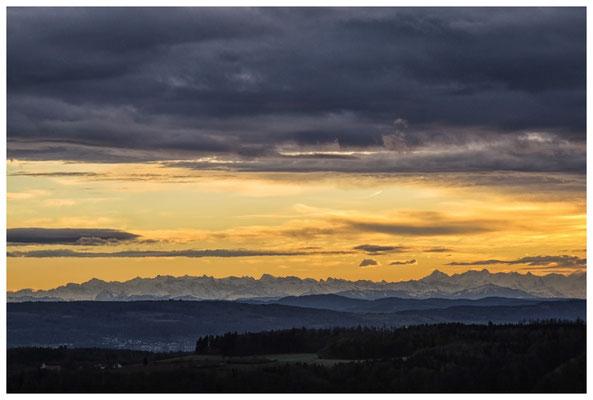 Blick auf die Alpenkette bei Föhnstimmung 3867