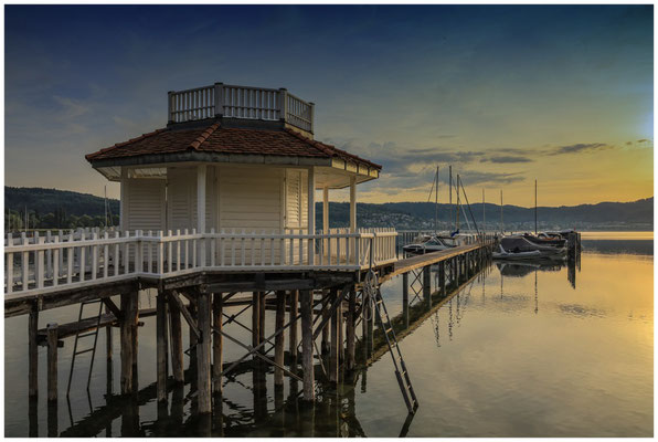 Bootshaus bei Bodman im Morgenlicht 2951