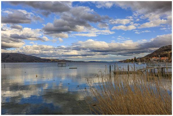 Blick vom Jachthafen auf Bodman und den Überlinger See 2038