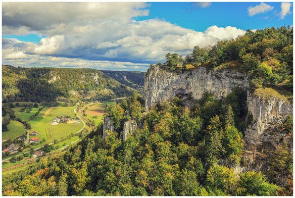 Blick in das Donautal vom Hohlen Fels 8325