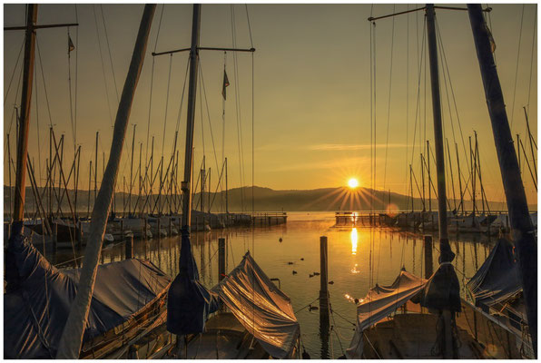 Sonnenaufgang Jachthafen Bodman 4030