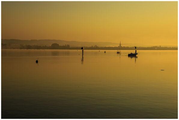 Blick auf den Zeller See mit Radolfzeller Münster 0599