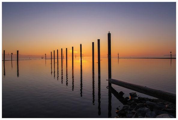 8421 Sonnenaufgang über dem Bodensee bei Moos