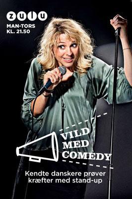 """Client: Zulu """"Vild med Comedy""""- Cecille Frøkjær  -       Agency: Tv2 Networks"""