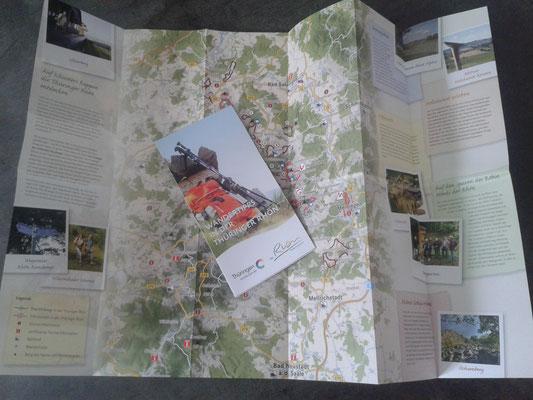 Flyer mit einer Auswahl der Rhön-Rundwege