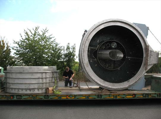 Einlaufkopf und Trommelende als Neuanfertigung zur Anlagenreparatur