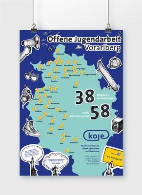 Plakat A1 - Offene Jugendarbeit Vorarlberg