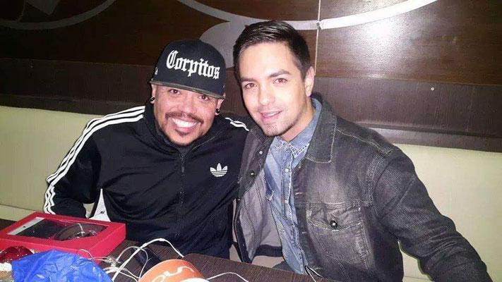 Junto a A. B. Quintanilla, en el año 2014