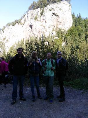Top motiviert machen wir uns in Mixnitz auf den Weg...