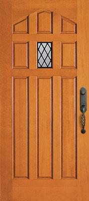 テューダー木製玄関ドア #4040 ドア・枠材、プレハング(吊り込み)セット商品