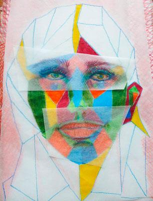 GABRIELE | Zeichnung | 30x40 cm | 1997 | Tatjana Zinner