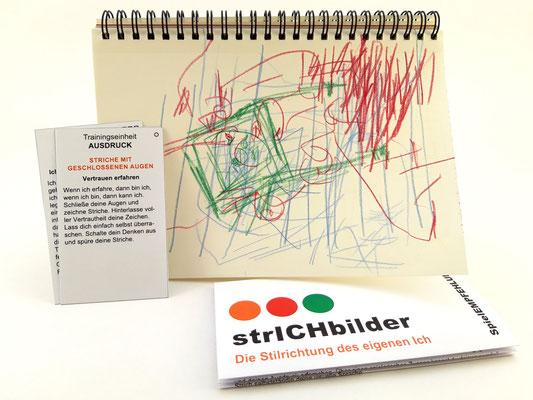 KUNSTzeich(n)en - strICHbilder | Beispiel für eine Trainingseinheit AUSDRUCK, mit SpielEMPFEHLUNG | Foto: manutober