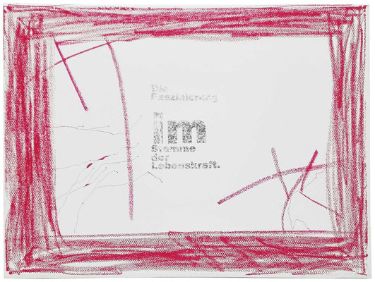 Lebenskraft | CoLeWaBi CollagenLeinWandBild | 30x40 | 2019 | Tatjana Zinner
