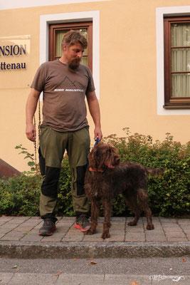 Axel Forster mit Mara vom Unstrut-Hainich