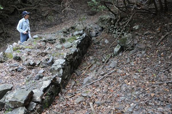 現存していた窯跡の背面