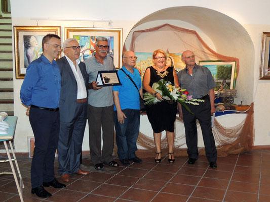 """5 settembre 2015 - Taranto, galleria comunale del Castello Aragonese. Decima edizione della rassegna artistica """"Artisti in passerella """". Serata inaugurale.  (Foto di Pasquale Raffo)."""